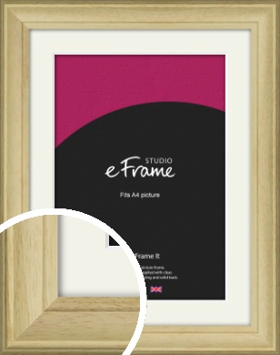 Ridged Country Natural Wood Picture Frame & Mount, A4 (210x297mm) (VRMP-799-M-A4)