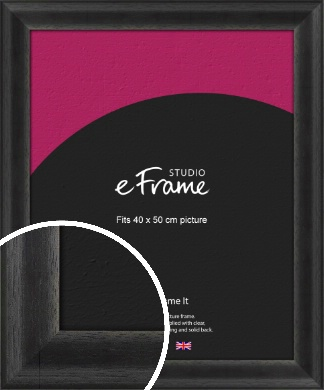 Stained Midnight Black Picture Frame, 40x50cm (VRMP-580-40x50cm)