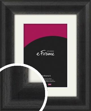 Stained Midnight Black Picture Frame & Mount (VRMP-580-M)