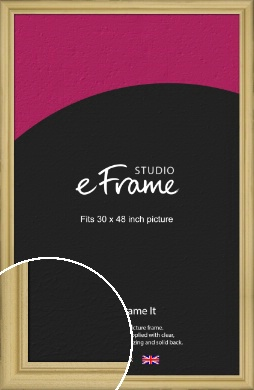Au Natural Natural Wood Picture Frame, 30x48