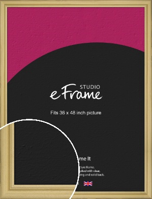 Au Natural Natural Wood Picture Frame, 36x48