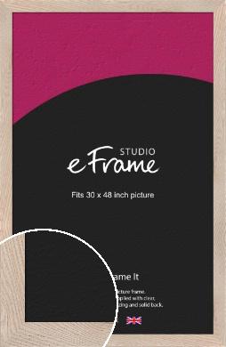 Sandcastle Open Grain Natural Wood Picture Frame, 30x48