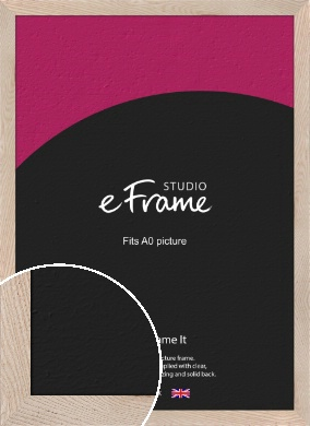 Sandcastle Open Grain Natural Wood Picture Frame, A0 (841x1189mm) (VRMP-425-A0)