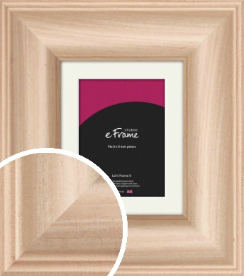 Classic Style Natural Wood Picture Frame & Mount, 6x8