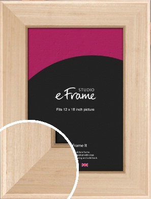 The Finest Natural Wood Picture Frame, 12x18
