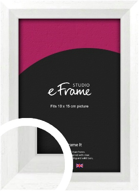 Graceful Washed White Picture Frame, 10x15cm (4x6