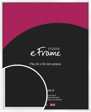 Graceful Washed White Picture Frame, 24x30