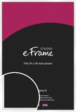 Graceful Washed White Picture Frame, 24x36