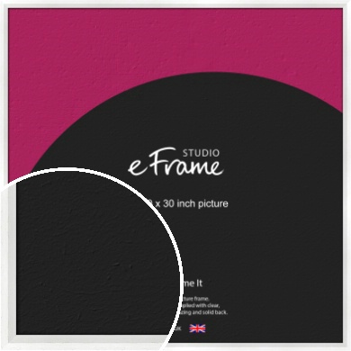 Graceful Washed White Picture Frame, 30x30
