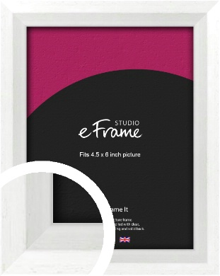 Graceful Washed White Picture Frame, 4.5x6