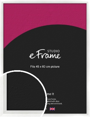 Graceful Washed White Picture Frame, 45x60cm (VRMP-150-45x60cm)