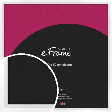 Graceful Washed White Picture Frame, 50x50cm (VRMP-150-50x50cm)