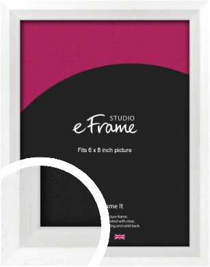 Graceful Washed White Picture Frame, 6x8
