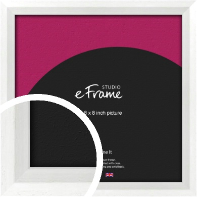 Graceful Washed White Picture Frame, 8x8