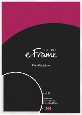 Graceful Washed White Picture Frame, A0 (841x1189mm) (VRMP-150-A0)