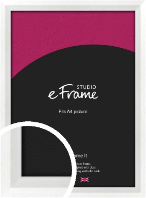 Graceful Washed White Picture Frame, A4 (210x297mm) (VRMP-150-A4)