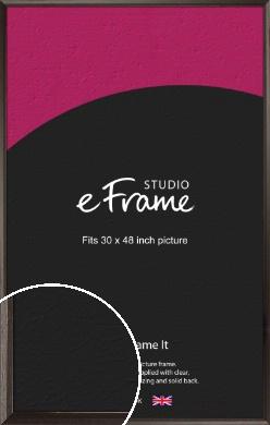 Bevelled Black Picture Frame, 30x48