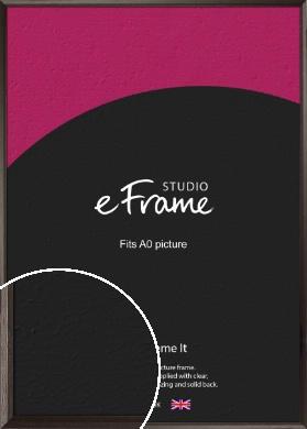 Bevelled Black Picture Frame, A0 (841x1189mm) (VRMP-136-A0)