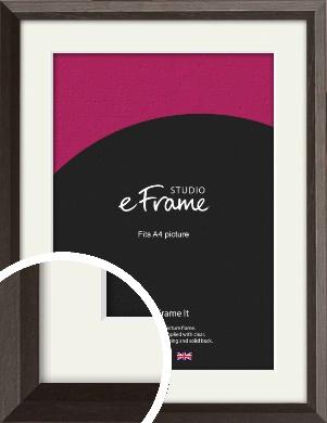 Bevelled Black Picture Frame & Mount, A4 (210x297mm) (VRMP-136-M-A4)
