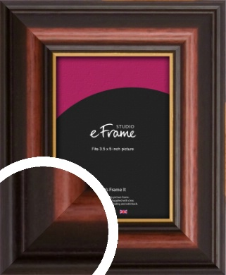 Gold Edged Cherry Brown Picture Frame, 3.5x5