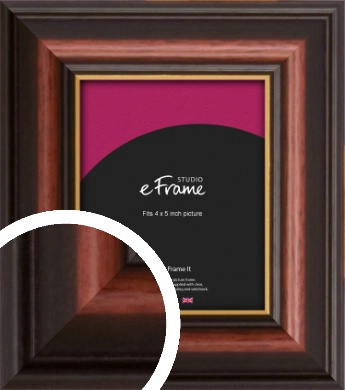 Gold Edged Cherry Brown Picture Frame, 4x5