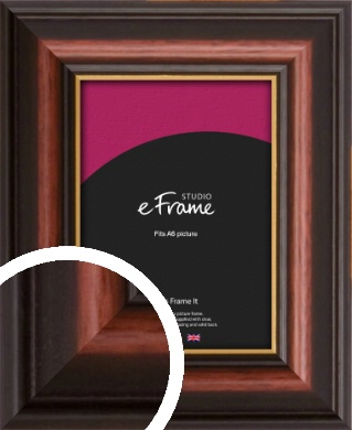 Gold Edged Cherry Brown Picture Frame, A6 (105x148mm) (VRMP-310-A6)