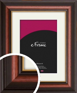 Gold Edged Cherry Brown Picture Frame & Mount (VRMP-310-M)