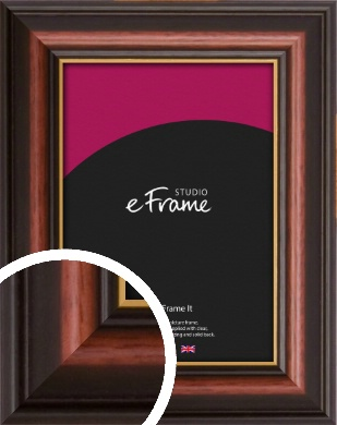 Gold Edged Cherry Brown Picture Frame (VRMP-310)