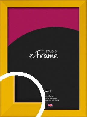 Narrow Saffron Yellow Picture Frame (VRMP-810)