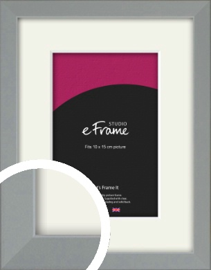 Neutral Grey Picture Frame & Mount, 10x15cm (4x6