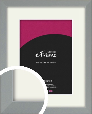 Neutral Grey Picture Frame & Mount, 13x18cm (5x7