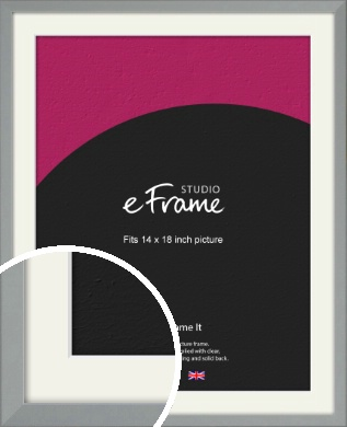 Neutral Grey Picture Frame & Mount, 14x18