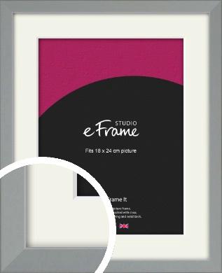 Neutral Grey Picture Frame & Mount, 18x24cm (VRMP-811-M-18x24cm)