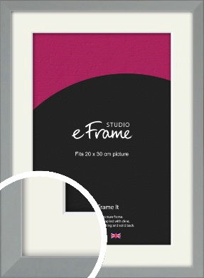 Neutral Grey Picture Frame & Mount, 20x30cm (8x12