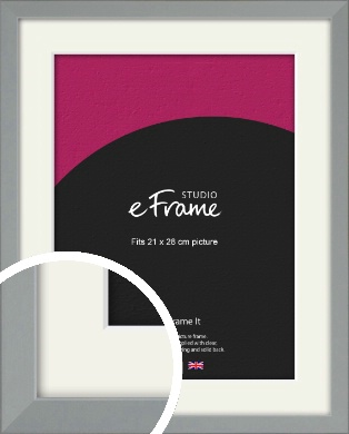 Neutral Grey Picture Frame & Mount, 21x28cm (VRMP-811-M-21x28cm)
