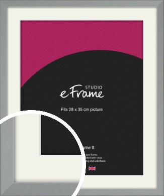 Neutral Grey Picture Frame & Mount, 28x35cm (VRMP-811-M-28x35cm)