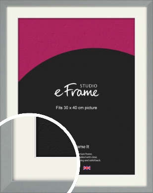 Neutral Grey Picture Frame & Mount, 30x40cm (VRMP-811-M-30x40cm)