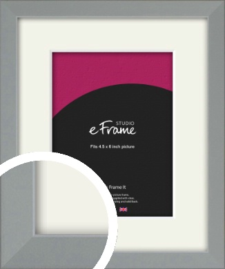 Neutral Grey Picture Frame & Mount, 4.5x6