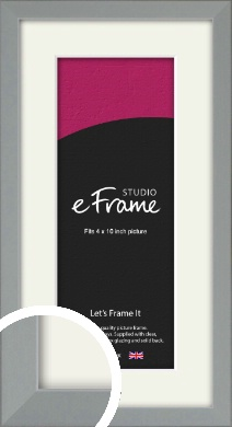 Neutral Grey Picture Frame & Mount, 4x10
