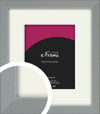Neutral Grey Picture Frame & Mount, 4x5