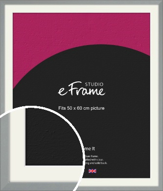 Neutral Grey Picture Frame & Mount, 50x60cm (VRMP-811-M-50x60cm)