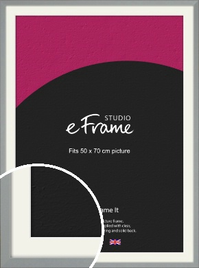 Neutral Grey Picture Frame & Mount, 50x70cm (VRMP-811-M-50x70cm)