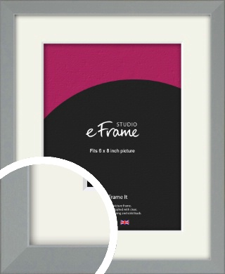 Neutral Grey Picture Frame & Mount, 6x8