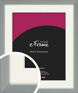 Neutral Grey Picture Frame & Mount, 8x10