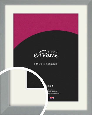 Neutral Grey Picture Frame & Mount, 9x12