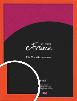 Simple Tangerine Orange Picture Frame, 30x40cm (VRMP-812-30x40cm)