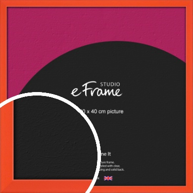 Simple Tangerine Orange Picture Frame, 40x40cm (VRMP-812-40x40cm)