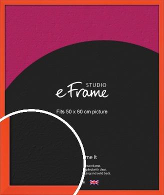 Simple Tangerine Orange Picture Frame, 50x60cm (VRMP-812-50x60cm)