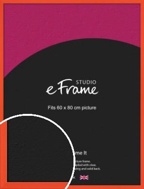 Simple Tangerine Orange Picture Frame, 60x80cm (VRMP-812-60x80cm)