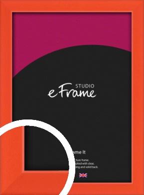 Simple Tangerine Orange Picture Frame (VRMP-812)